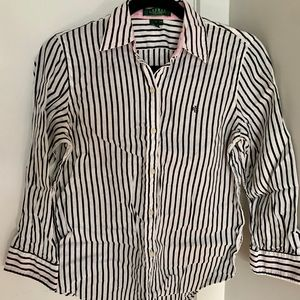 Vintage Ralph Lauren striped linen button-down